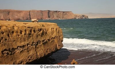 Coastline, Paracas, Peru - video footage of a coastline in...
