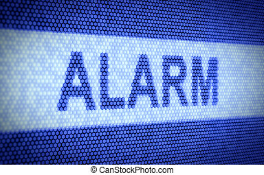 Alarm concept - 3d illustration of alarm text on computer...
