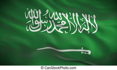 Highly detailed flag Saudi Arabia - Highly detailed flag of...