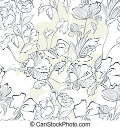 Floral seamless pattern with a lot of flowers