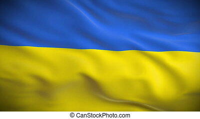 Highly detailed flag of Ukraine
