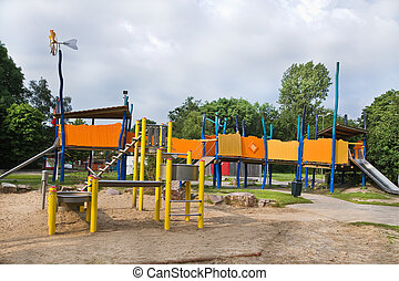 Playground for children in public park