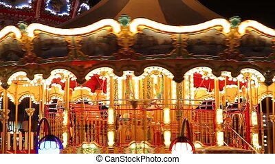 carousel at amusement park