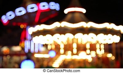 amusement park light - de-focus amusement park light