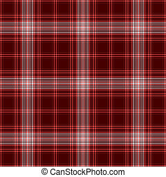 Seamless Cherry Red Plaid - Seamless plaid in bright red,...