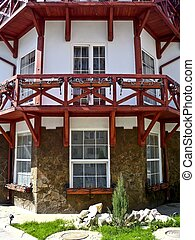 Fragment of modern house in the old European...