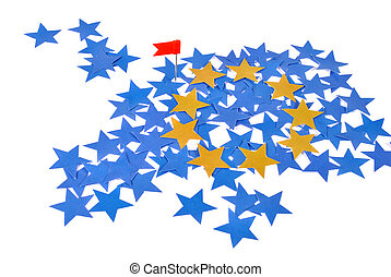 European Union map with stars - European Union symbol-map...
