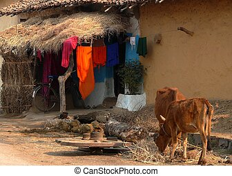 Village Home - Traditional Indian Village Home.