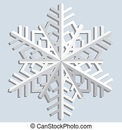 Snowflakes Vector illustration - Snowflake cut out of paper...