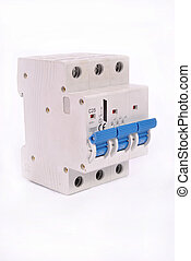 Circuit Breaker -  A 3 pole miniature circuit breaker
