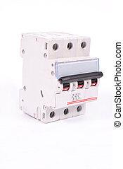 Circuit Breaker -  A 3 pole miniature circuit breaker