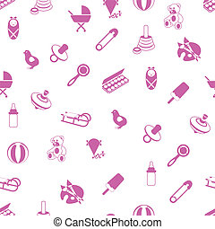 baby icons pattern