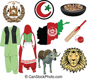 Afghanistan icons - Vector Illustration for Afghanistan....