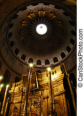 Sepulchre of Jesus Christ in the church of the holy sepulchre, Jerusalem, Israel.