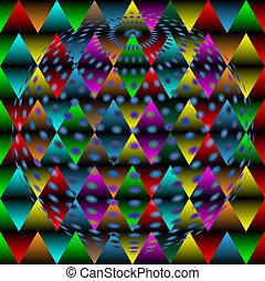 disco ball abstract