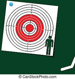 Target symbol of man