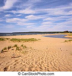 South Shore Beachscape - A scenic beach vista along the...
