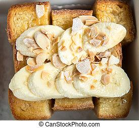 Honey toast with banana
