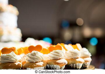 Wedding cake of cupcakes  - Wedding cake of cupcakes