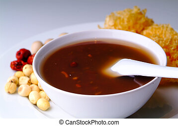 Red Bean Soup, Asia Dessert - Red Bean Soup, Traditional...