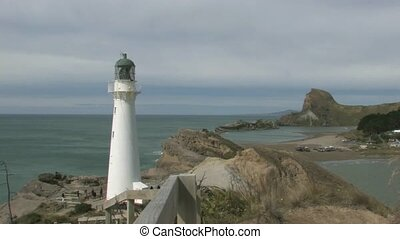 Castlepoint Lighthouse Wairapa - A small tourist beachside...