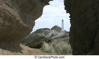 Castlepoint Lighthouse 3 - Wairapa - Camera Zoom into...