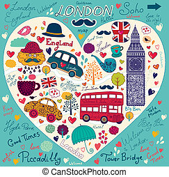 Symbol of London - Vector set of Londons symbols