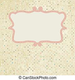 Vintage polka dot design. EPS 8