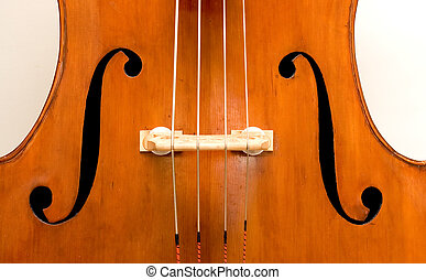 Double Bass - A close up of an orchestral Italian double...