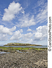 Moelfre Island, Moelfre, Anglesey in North Wales