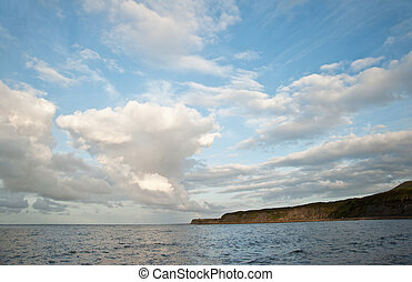 Beautiful cloud formations in sky over ocean - Stunning...