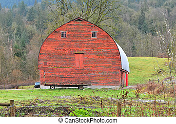 big red barn - red barn out in the country