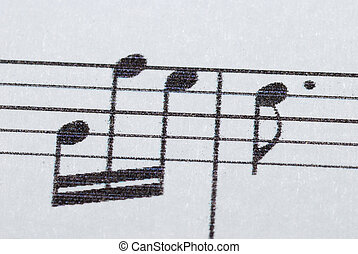 detailed notes - many music notes on a sheet for the concert...