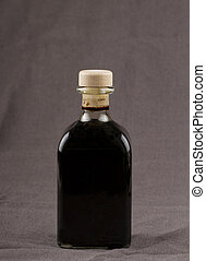 Balsamic vinegar - Elegant bottle of balsamic vinegar over...
