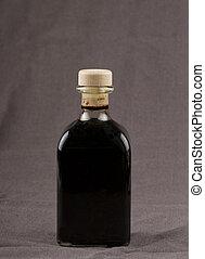 Balsamic vinegar - Elegant bottle of balsamic vinegar over...