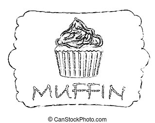 Muffin - Vector illustration of muffin