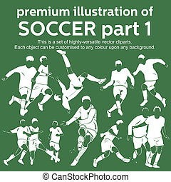 Premium soccer part 1 vector - Set of highly versatile...