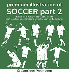 Premium soccer part 2 vector - Set of highly versatile...