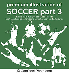 Premium soccer part 3 vector - Set of highly versatile...