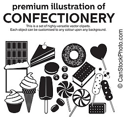 confectionery vector - Set of highly versatile vector...