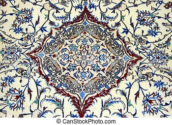 Texture of Turkish Carpet - Old, handmade Turkish carpet