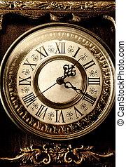 vieux, antiquité, horloge