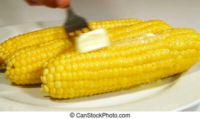 Boiled Corn Cob With Butter