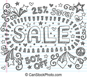 Sketchy Sale Discount Shop Doodles - Sale Sketchy Notebook...