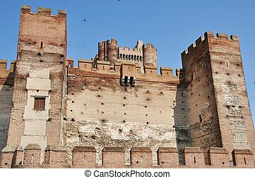 Castle of La Mota - Towers of Ancient Castle of La Mota,...