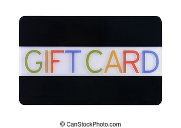 Gift Card - Gift card isolated on a white background