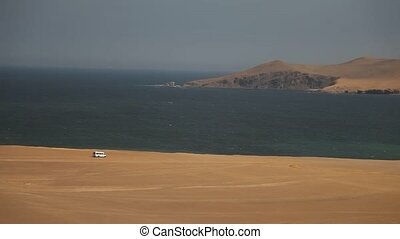 Off-Road in Desert, Paracas, Peru