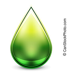 Hi-tech water drop icon - Abstract glossy vector water...