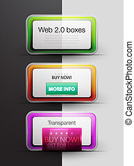 Colorful vector web 20 boxes - Vector colorful detailed...