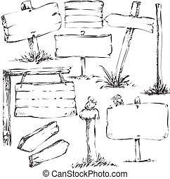 sketches of sign boards